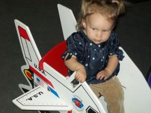 Lexi found a space shuttle rocking chair..Sooo cute!