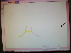 What Zander drew on the computer.