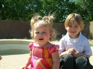 Zander and Lexi Easter 2009