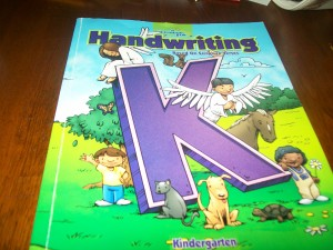 a reason for Handwriting - Kindergarten