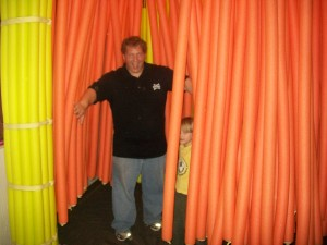 Daddy and Zander in the Noodle Forest