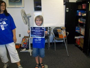 Zander graduating from Space Camp