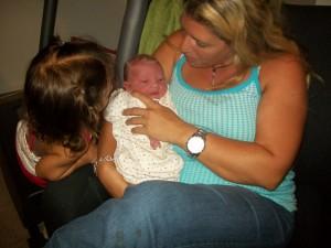 Aunt Cher holding Aiden!